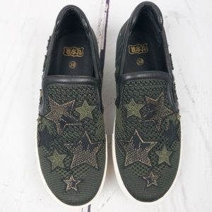 Ash Jeday Patched Platform Slip On Sneaker